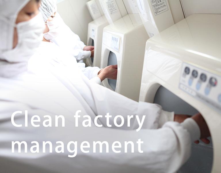Clean factory management