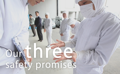 Our three safety promises