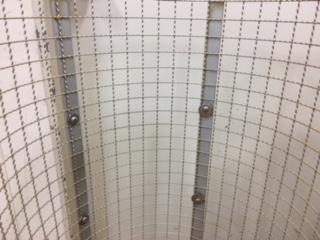 網のサイズによって粒感が決定する。
