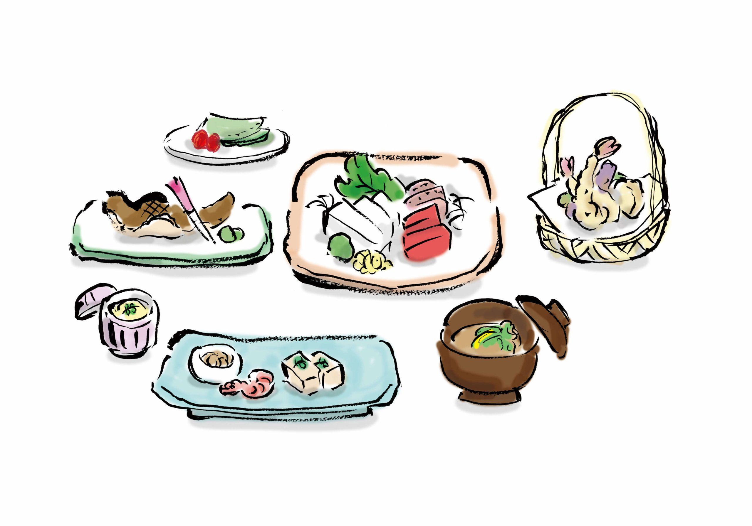 懐石料理と会席料理